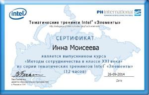 Сертификат Методы сотрудничества (Элементы)